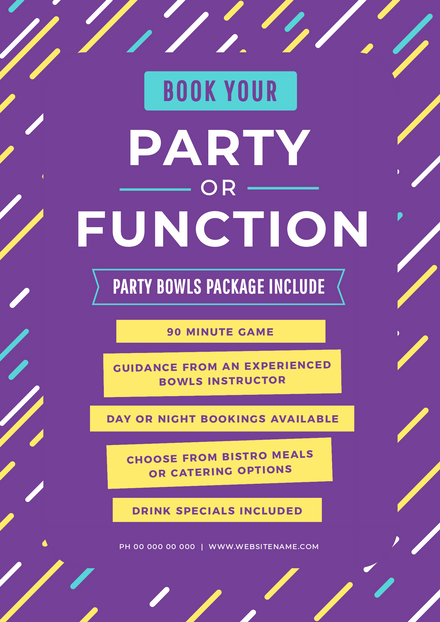 Book your Party or Function