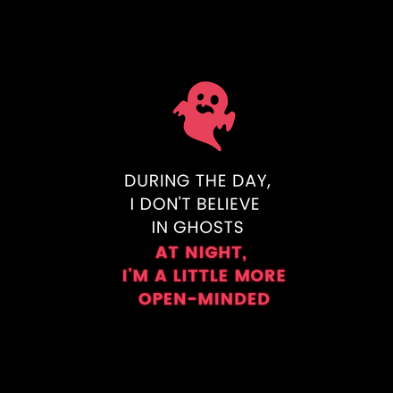Ghost Halloween Quote Graphic