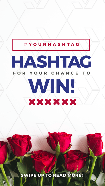 Hashtag to win!