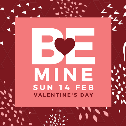 Be Mine Heart Valentine's Day Graphic Template