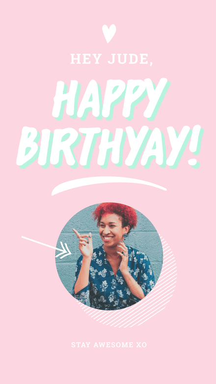 Happy Birthday Instagram Story Template Easil