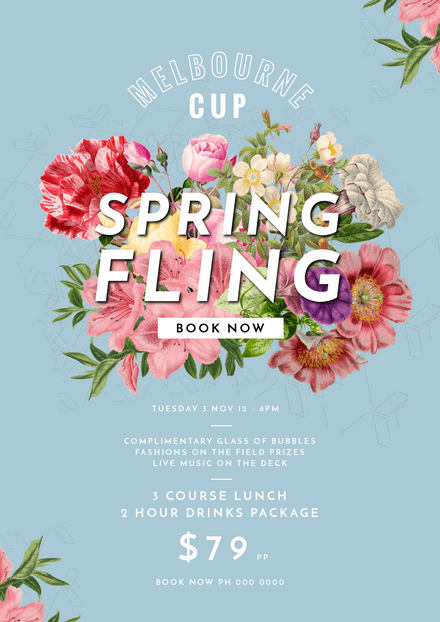 Melbourne Cup Spring Fling with Floral Feature