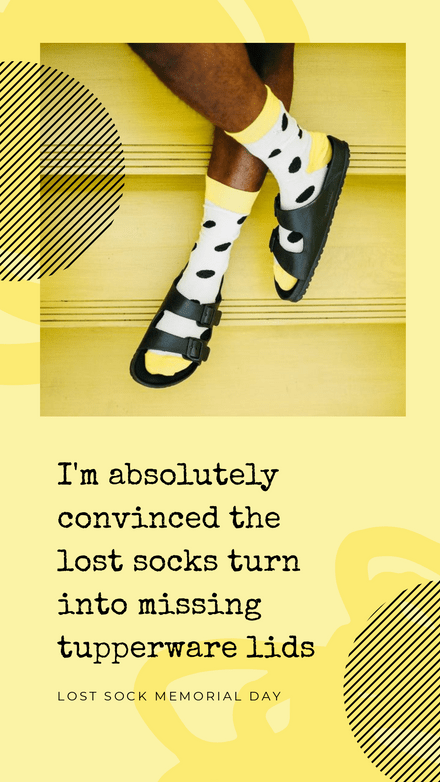 Lost Sock Memorial Day Quote