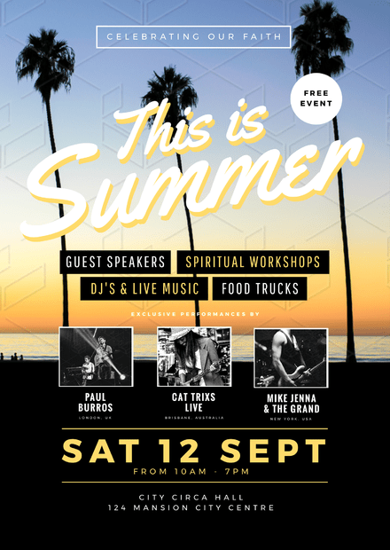 This is summer church event flyer template maxwellsz