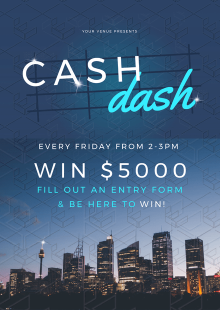 Cash Dash Win Money Promotional Template - Easil