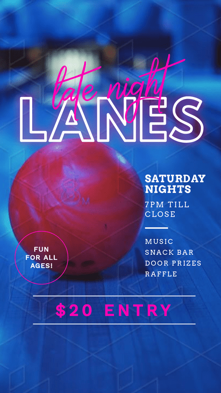 Late Night Lanes - Bowling Event Template