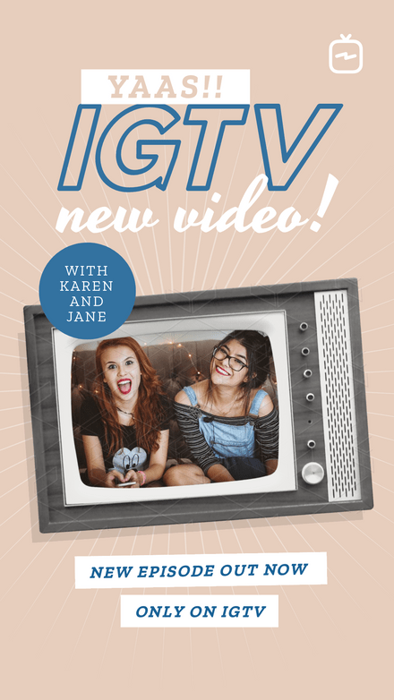 IGTV New Video Announcement Template