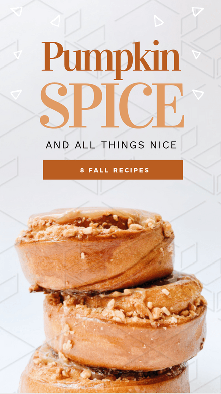 Pumpkin Spice & All Things Nice Graphic Template