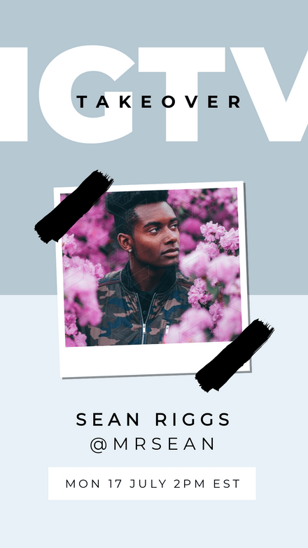 IGTV Takeover Cover with Polaroid Frame & Tape graphics
