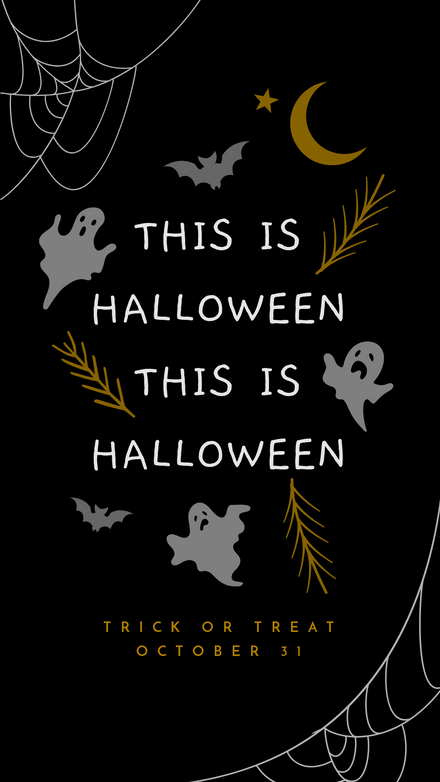 Halloween Spooky Elements Quote