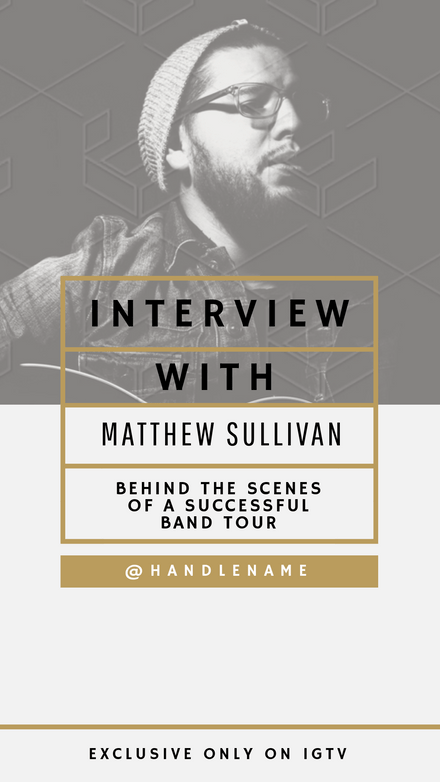 Interview with Guest on IGTV Template