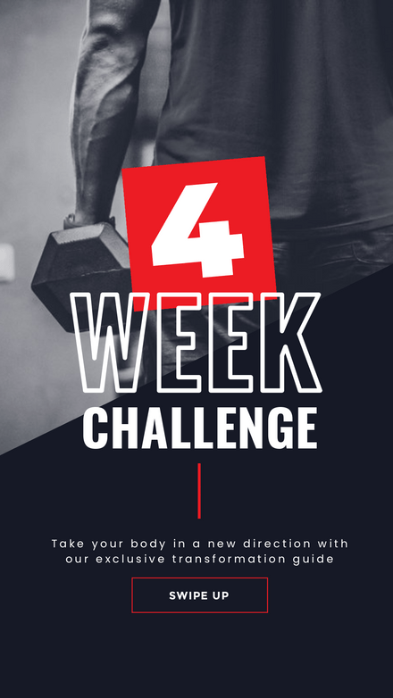 4 Week Challenge - Fitness Trainer Graphic Template