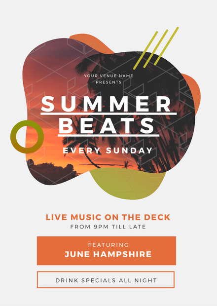 Summer Beats / Live Music Promotional Template