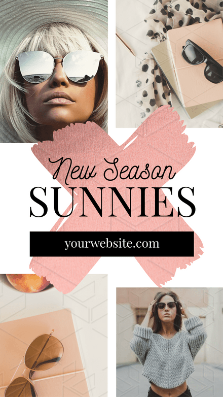 New Season Sunnies - Rose Gold Template