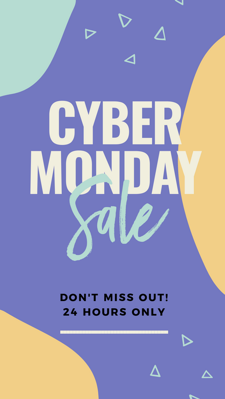 Cyber Monday Sale Graphic Template - Colorful Blobs