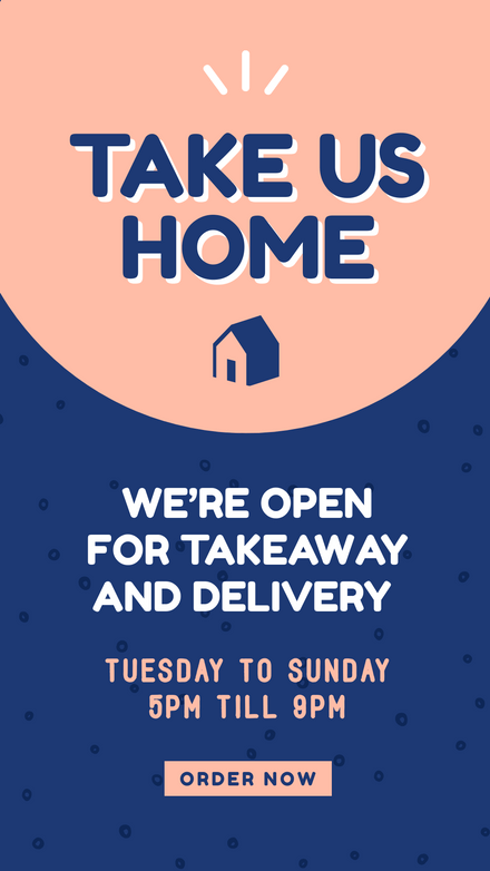 Takeaway Delivery Offer: Peach & Blue