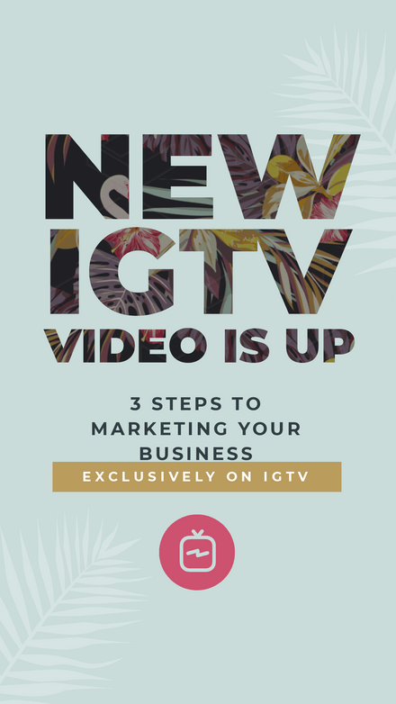 IGTV Video Announcement Template with Text Dropzone