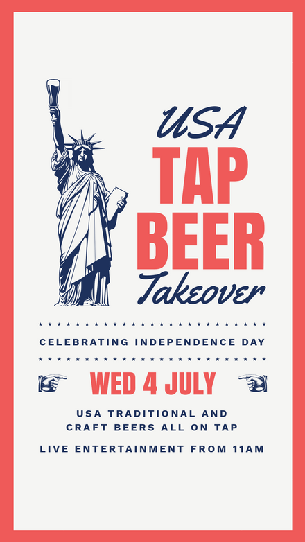 USA Tap Beer Takeover Independence Day
