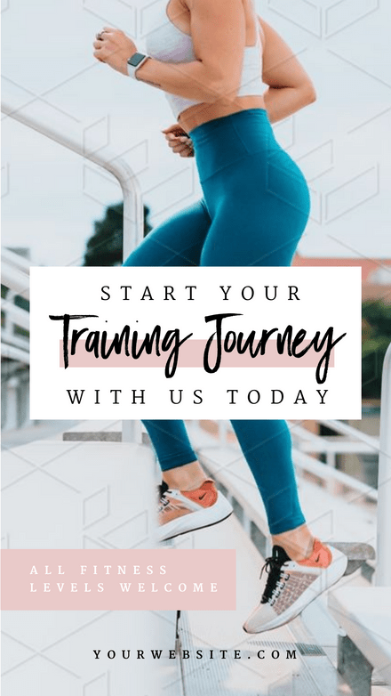 Start your Training Journey with Us - Trainer Graphic Template