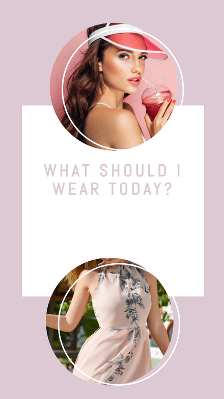 Poll Template - What should I wear today?