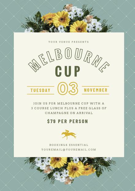 Floral Bouquet Melbourne Cup Promotion Template
