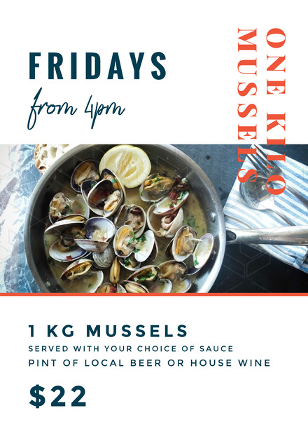 One Kilo Mussels Food Promotion