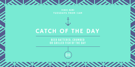 Catch of the day food promotion template with pattern background maxwellsz