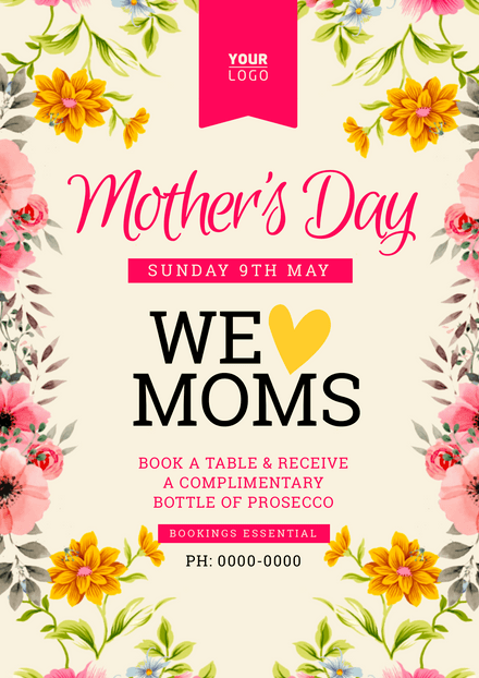 Mother's Day We Love Moms Template