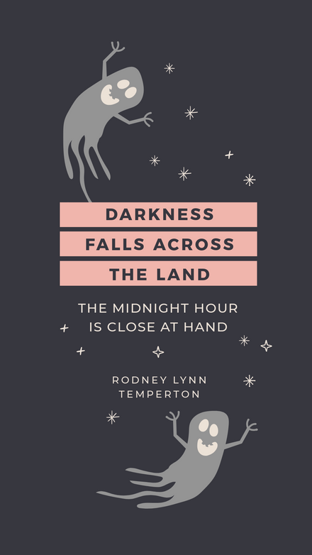 Halloween Quote - Darkness falls across the land