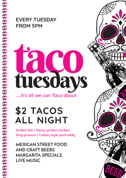 Taco Tuesdays - It\'s all we can Taco about Mexican Template