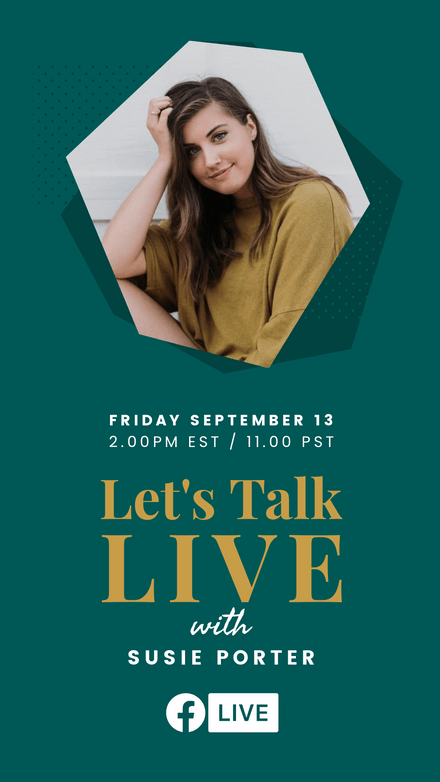 Let's Talk Live Hexagon Graphic Template