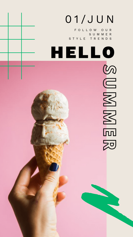 Hello Summer Duo Page Template