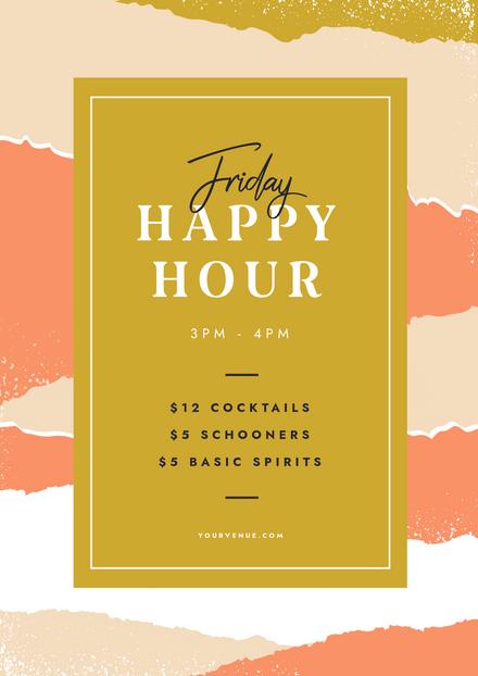 Happy Hour - Torn Paper Series