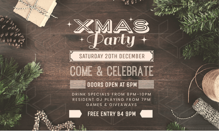 Christmas Party Invitation With Styled Stock Xmas Background Image