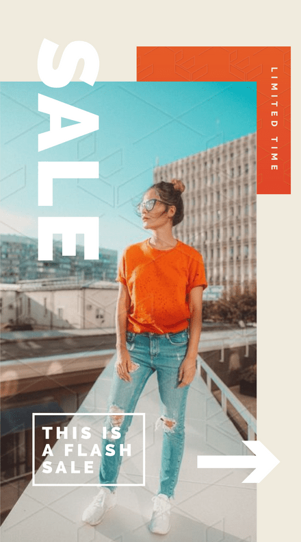 Flash Sale Fashion Instagram Story Template