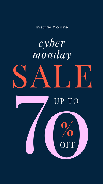 Cyber Monday Colorful Sale Graphic Template