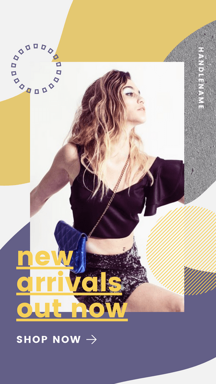 New Arrivals Out - Retail Graphic Template