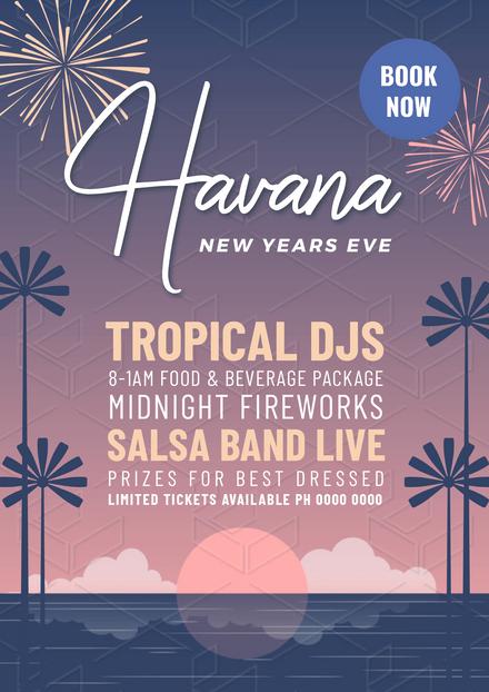 Havana New Years Eve Celebration Template