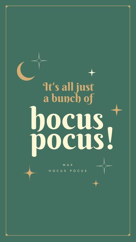 Hocus Pocus Halloween Quote