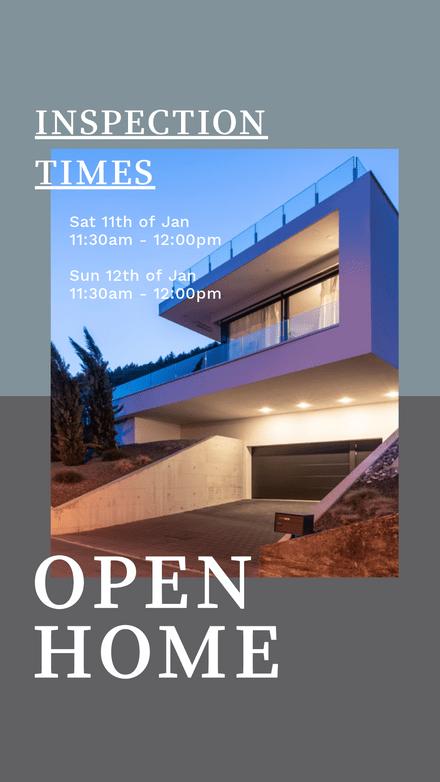 Open Home for Inspection - Modern Framed Template