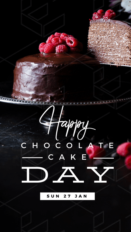 Happy Chocolate Cake Day Graphic Template