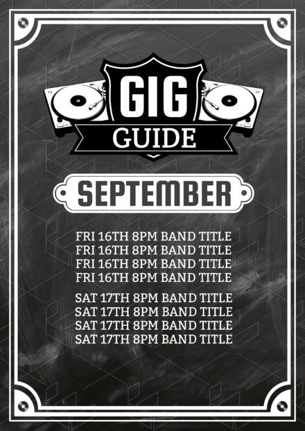 gig guide easil