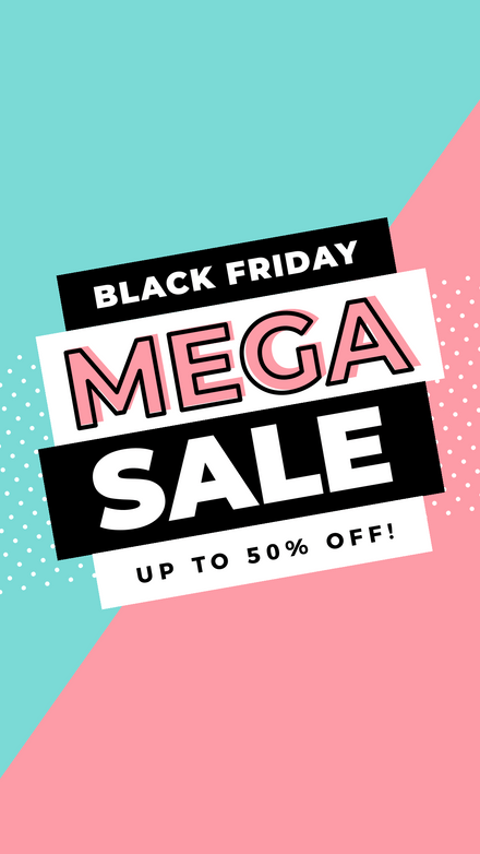 Black Friday Mega Sale Graphic Template