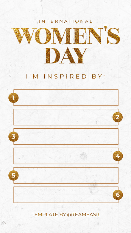 International Women's Day Top Women Who Inspire Template