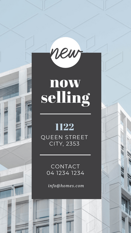 Now Selling - Real Estate Promotion Grey Overlay