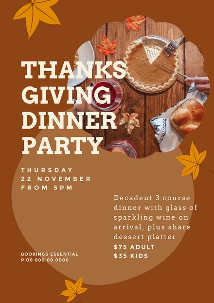 thanksgiving dinner party template easil