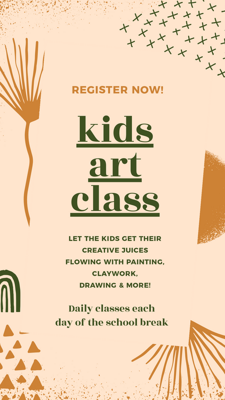 Kids Art Class Earthy Colors Template