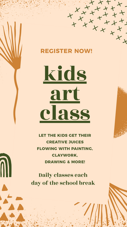Kids Art Class Earthy Colors Template