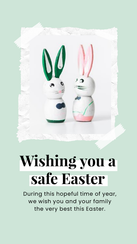Wishing you a Safe Easter Photo Template