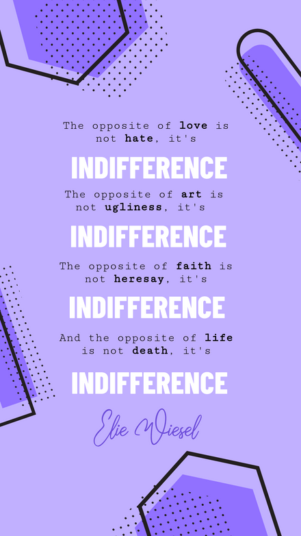 Quote: Opposites Purple Shapes